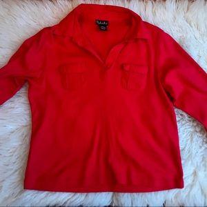 Rafaella Women Red Long Sleeve Top M L